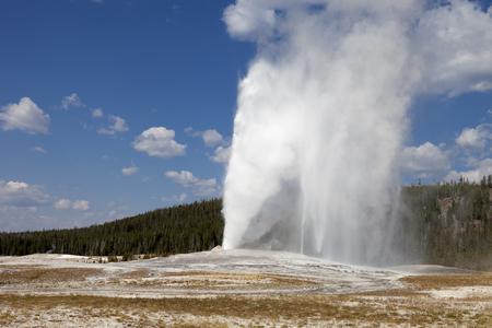 faithful: Eruption of Old Faithful geyser
