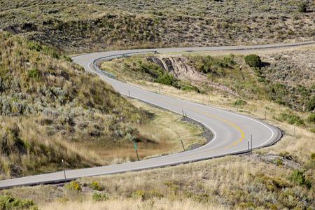 roadway: Scurve in a roadway