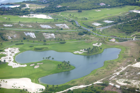 impervious: Aerial view of golf course Stock Photo