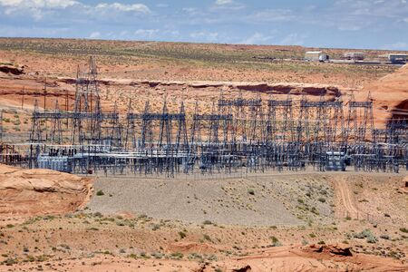 Power transformer station in the desert near Page Arizona