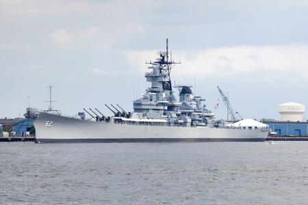 Battleship New Jersey also know as :USS New Jersey BB62 Big J or Black Dragon is an Iowaclass battleship that served during World War II Korean War Vietnam War and Lebanese Civil War. The Battleship is now a museum ship Oct 15 2001 along the Delaware R Editorial