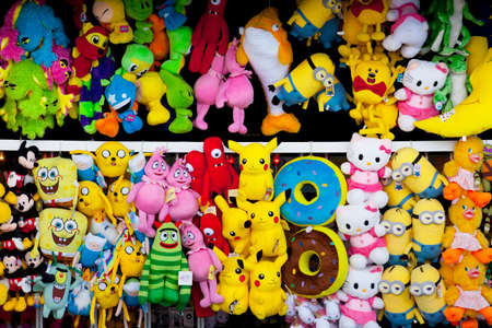 wildwood: A wall game prizes that can be won at carnival type games of chance on the famous Boardwalk in Wildwood, New Jersey. Some of the prizes include SpongBob, Hello Kitty, Minion and Pokemon