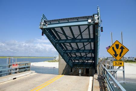 drawbridge: Open drawbridge in New Jersey Stock Photo