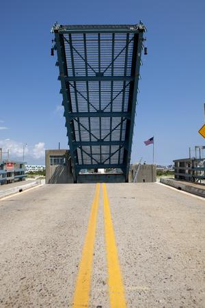 draw bridge: Open drawbridge in New Jersey Stock Photo