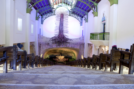 building feature: The Capilla de Guadalupe on the Yucatán Peninsula in the area known as the Riviera Maya, just south of Playa del Carmen, Mexico Editorial