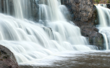 Gooseberry Fall, Minnesota - Waterfalls Stock Photo