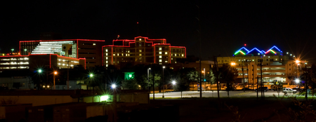Hospital district in Ft Worth Texas Stock Photo