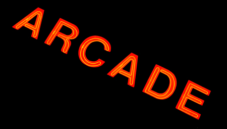 Red neon sign of