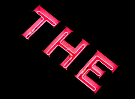 Pink neon sign of