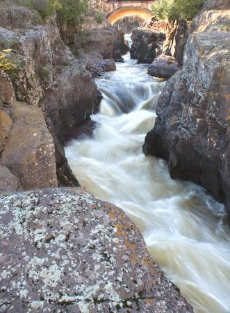 temperance: Temperance River Falls , Minnesota - Waterfalls