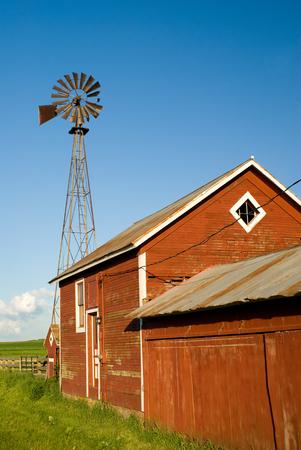galvanized: Old Farm Windmill