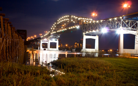 Blatnik Bridge over Saint Louis Bay between Duluth, Minnesota and Superior, Wisconsin