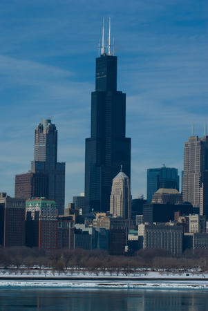sears: Chicago Famous  Skyline Stock Photo