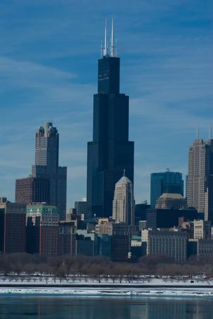 Chicago Famous  Skyline Stock Photo