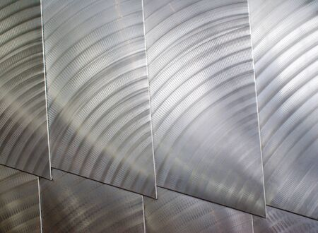 stainless steal: Architecture details of a pattern of stainless steal shingles
