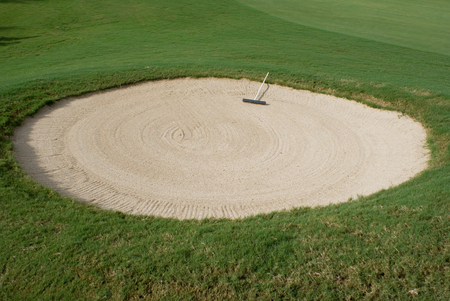 pit fall: Golf course with  sand traps hazards.