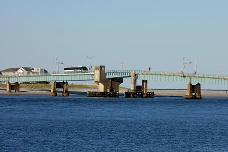 Open drawbridge between Avalon and Sea Isle City in New Jersey