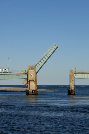 Open drawbridge between Avalon and Sea Isle City in New Jersey