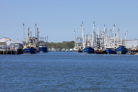 Commercial fishing boat in New Jersey