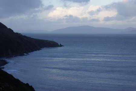 Irish coastline in winter