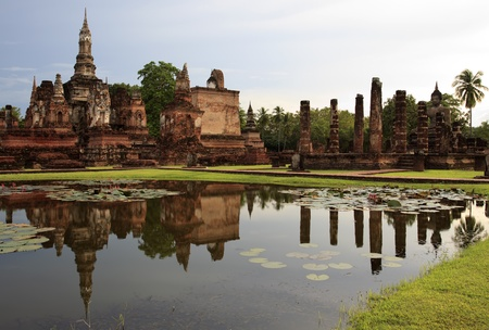 Historical temple park in Thailand. photo