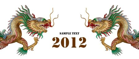 Twin head dragon, You can work and you can insert your text in to picture. photo