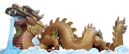 The big golden dragon, it can use for 2012 newyear symbol. photo