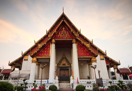 buddhist temple roof: Wat Thai in old citizen of Thailand. Stock Photo