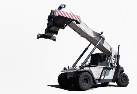 lifter: Crane truck for container handling.