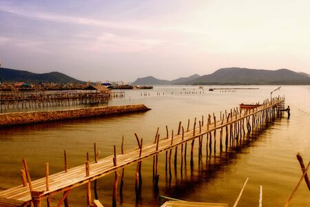 Wood bridge on the sea. Stock Photo - 11114173