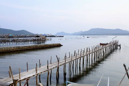 Wood bridge on the sea. Stock Photo - 11114169