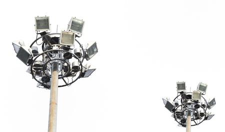 Ground light (traffic light) pole on isolate background photo
