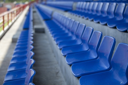 baseball crowd: Blue chair. On the miraculous. To watch a sporting event. Editorial