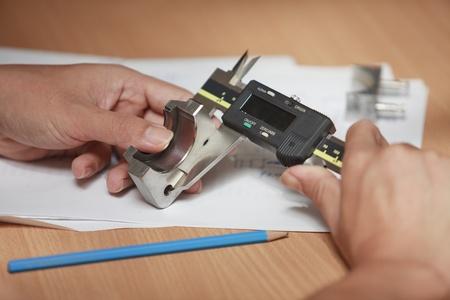 Caliper for check and design, use for check dimension of workpiece. Stock Photo - 11262917