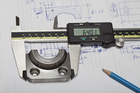 Caliper for check and design, use for check dimension of workpiece.