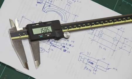 Caliper for check and design, use for check dimension of workpiece. Stock Photo - 11260028