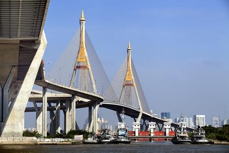 Under mega bridge, Rama 9, Bangkok in Thailand
