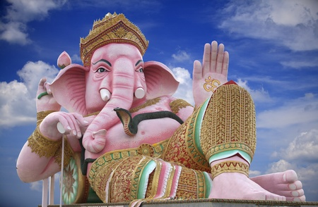 Ancient Ganesh (god of hinduism), Thailand. photo