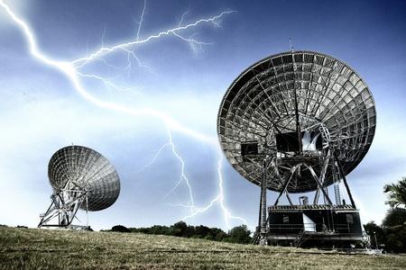 Strom: Radar dish with strom