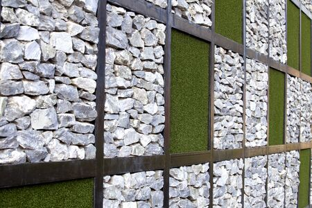 grassy field: Grass and stone background and texture