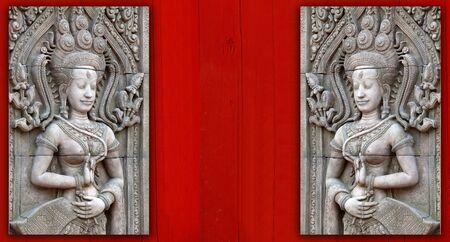 apsara: Apsara sculptures at Angkor Wat, made around the 12th Century.