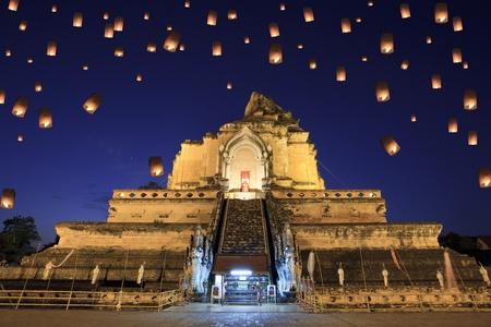 yeepeng: Wat Chedi Luang, chiangmai between new year night.