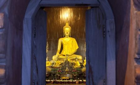 emanation: Golden Buddha Statue At Doi Suthep Temple, Chiang mai - Thailand