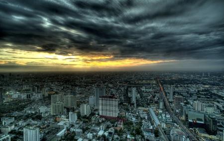 Night View of Bangkok, Thailand  photo