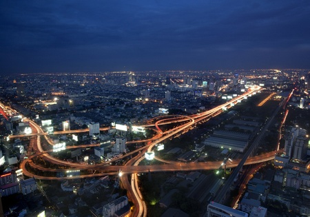 Bangkok and express way view point from Baiyok building  photo