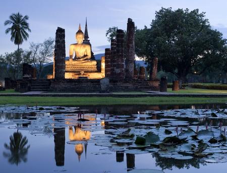 Sukhothai historical temple park in Thailand  photo