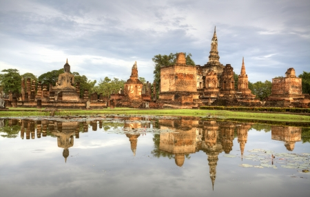 Sukhothai historical temple park in Thailand  photo