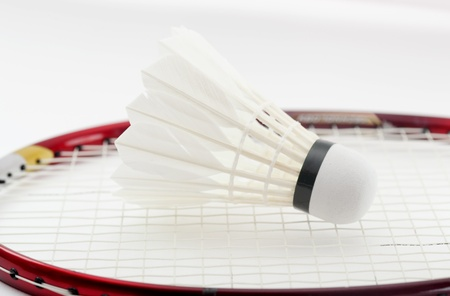 Badminton shuttlecock for sport game on white background  photo