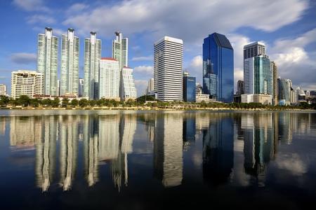 Bangkok city town and the water park, Thailand Stock Photo - 12999108