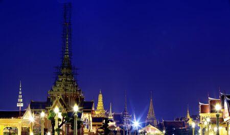 The Grand Palace and temporary pagoda in Bangkok, Thailand photo